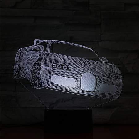 3d Nachtlicht Lampe,Led Nachtlicht Geschenk Auto Bild Touch Sensor Farbwechsel Für Kinder Kindergeburtstagsgeschenk 3D Dimension Lampe