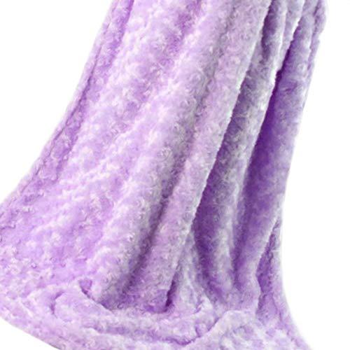 Rüschen Rosette (Masterein Baby-warme Weiche Berühren 2-Schicht Plüsch-Strudel gemasert Velour Design-Rosetten Rüschen Decke)