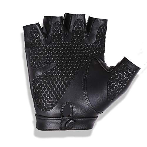 uen Fingerlose Handschuhe Bike Gym Driving Rollstuhlhandschuhe Moto Handschuhe Neutral Handschuhe (Farbe : Upgraded Version Black) ()