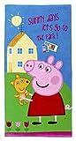 Peppa Pig Handtuch Badetuch Peppa Wutz 'Sunny days let's go to the Park' Spruch, 70 x 140 cm für Kinder, Jungen und Mädchen, 100 % Baumwolle