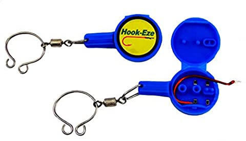 Ross Bain's Hook-Eze, multi function fishing tool for tying hooks, jigs and other rigs. Twin Pack