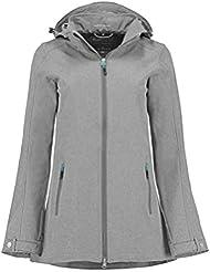Kjelvik Mujer Lynn Bonded Softshell chaqueta, Lynn, mujer, color Ashgrey, tamaño talla 42