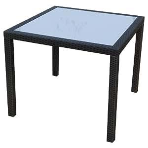 Ambientehome polyrattan tisch inkl glasplatte esstisch for Amazon tisch