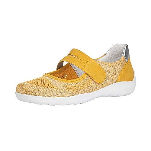 Remonte R3506 - Bailarinas Cerradas para Mujer, Color Amarillo, Talla 43 EU