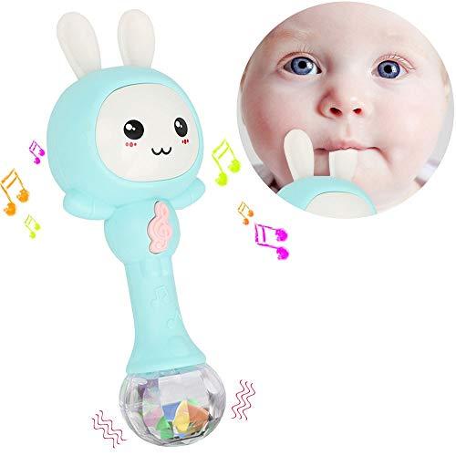 NEEDOON Musical Sonajeros Bebé, Cantante Conejo Juguete con...