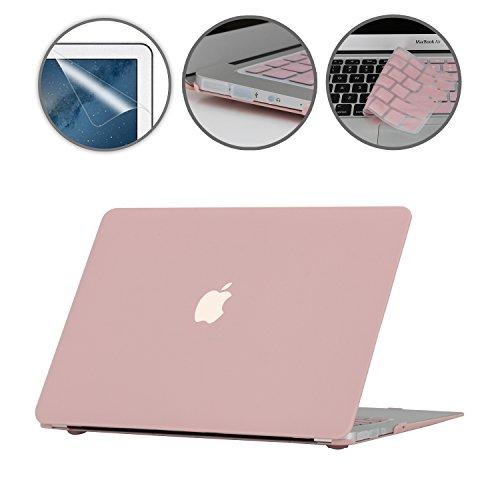i-Buy Gummierte Harte Schutzhülle Hülle für Apple Macbook Air 13