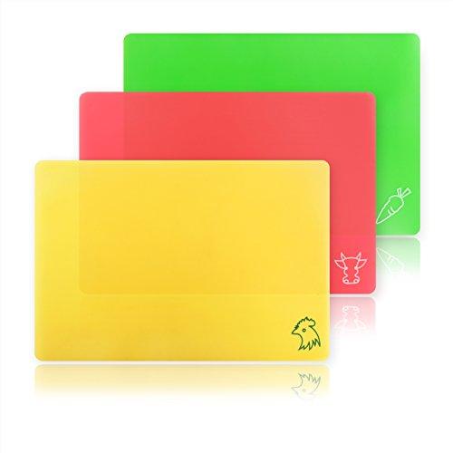 New Star Foodservice 28690Flexible Schneidebrett, Maurerkelle von 35,6cm, verschiedene Farben, Set von 3