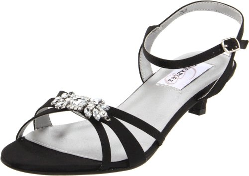 DyeablesPenelope Leather - Penelope, Leder Damen, Schwarz (Black Satin), 37 B(M) EU Dyeables Low Heel Heels