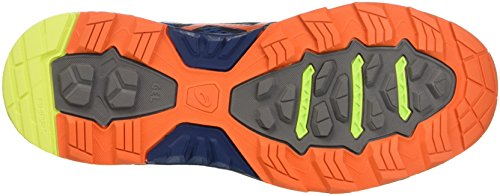 Asics Gel-fujitrabuco 5, Gymnastique homme Blu (Poseidon/Flame Orange/Safety Yellow)