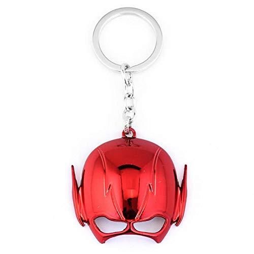 TUDUDU Film Die Flash-Serie Schlüsselanhänger Legierung Maske Schlüsselanhänger Schlüsselanhänger Schlüsselanhänger Für Frauen Männer Schlüsselanhänger Zubehör