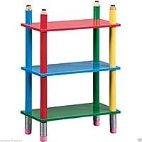 ChoicefullBargain Pencil Crayon Kids Shelving Unit, Bookcase, Children bedroom furniture