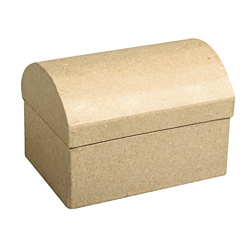 Rayher 71915000 Pappmaché Box: Truhe FSC Recycled 100%, 8x5,5x5,5cm