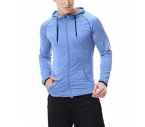 Neu Plain Männer Fleece Zip Up Kapuzenjacke Jacke Sweatshirt Kapuzen-Reißverschluss