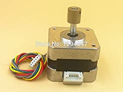 Generic 1pc Nema17 bipolar step stepper motor 0.4A 34mm length 26Ncm 4 leads+1pc40tooth stainless feed gear for 3D printer