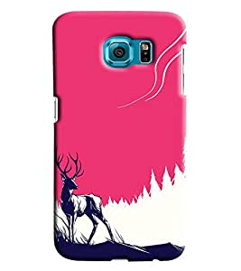 Blue Throat Deer Effct Printed Designer Back Cover/ Case For Samsung Galaxy S6 Edge Plus