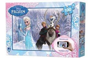 Desconocido ETS Toys 51013-Frozen Puzzle Interactivo, 100Unidades