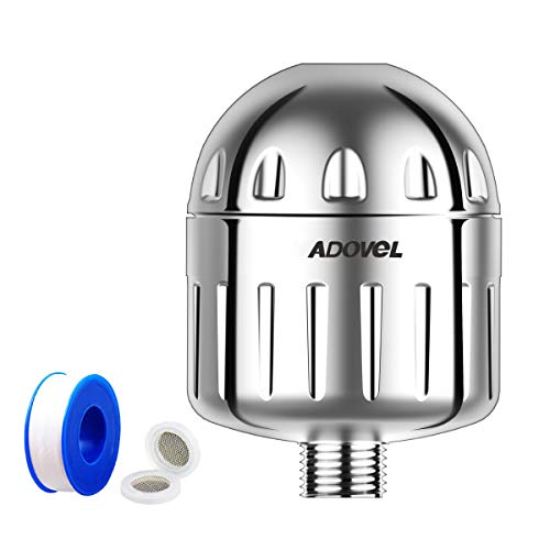 Adovel 2019 Professional Chlorine Removal Shower Filtre, Economie d'espace, Ramollir l'Eau Dure, Elimination du Calcium, Fluorure, Métaux Lourds, Bactéries - Mini modèle