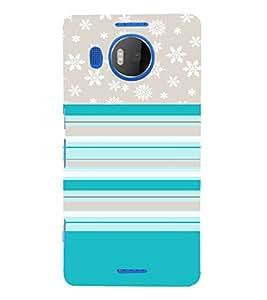 Rangoli Floral Design 3D Hard Polycarbonate Designer Back Case Cover for Nokia Lumia 950 XL :: Microsoft Lumia 950 XL