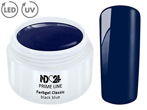 5ML - PRIME LINE - Color UV Gel LED FARBGEL BLACK BLUE French Modellage Nail Art Design Nagel Blau - MADE IN GERMANY