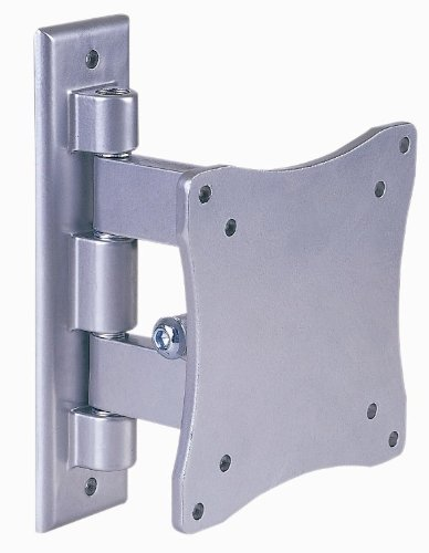 Intecbrackets® - To fit all DVD/TV combi 17 19 20 22 23 24 Silver TV Wall Bracket With Swivel and Tilt