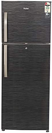 Haier 310 L 2 Star Frost-Free Double Door Refrigerator (HRF-3304BKS-E, Black Brushline)