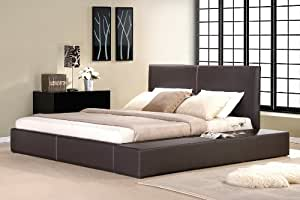 lederbett bettgestell lounge bett braun 160x200 cm polsterbetten bettrahmen material a. Black Bedroom Furniture Sets. Home Design Ideas