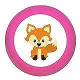 Schrankgriff Fuchs pink Holz Kinder Kinderzimmer 1 Stück Waldtiere