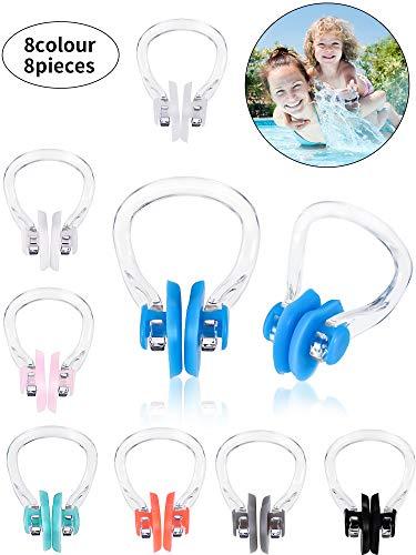 Schwimmen Nasenklemme Weiche Silikon Nasenklemmen wasserdichte Nasenklemme Stecker für Erwachsene Kinder (8)