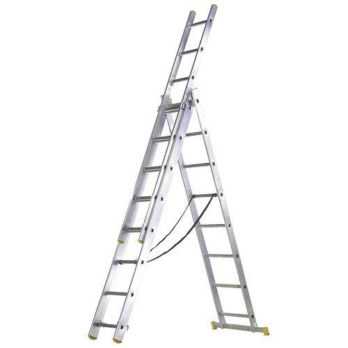 Maurer 23020007 Escalera Aluminio 3 Tramos 9+9+9 Peldaños
