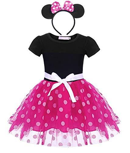 Mädchen Up Kostüm Kleid Baby - AmzBarley Baby Mädchen Kostüm Kinder Polka Dot Kleid Fancy Party Dressing up Kleidung Geburtstag Kleider Outfit Halloween Cosplay mit Stirnband