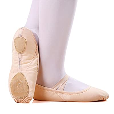 Skyrocket Ballet Canvas Dance Shoes Gymnastic Yoga Shoes Flat Split Sole Leather Girls Ladies Children's and Adult's Sizes