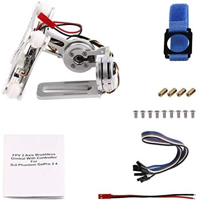 8Eninife Silver FPV 2 Axle Brushless Brushless Brushless Gimbal   Controller for DJI Phantom GoPro 3 4 | Valeur Formidable