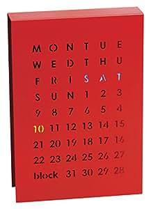 Block Calendrier perpétuel magnétique Rouge