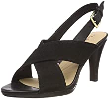 Clarks Dalia Lotus, Scarpe con Cinturino alla Caviglia Donna, Nero (Black Combi-), 39 EU