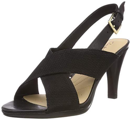 b3c087dbb9ea0 Clarks Dalia Lotus, Zapatos de Talón Abierto para Mujer, Negro (Black  Combi-), 38 EU