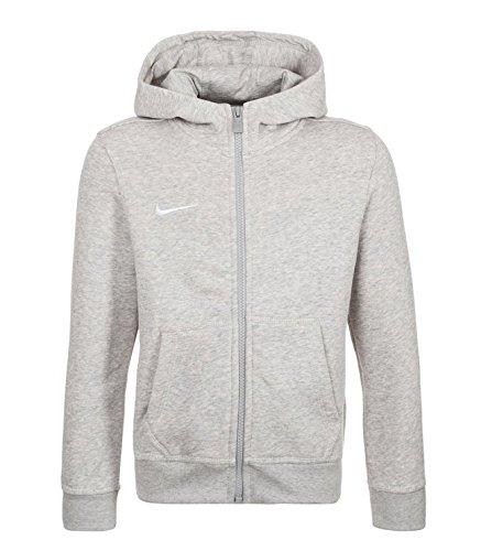 Nike Team Club Full-Zip Hoodie Kinder -658499-050- Sweatjacke, Größe:M (140/152);Farbe:GREY HEATHER/GREY HEATHER/FOOTBALL WHITE