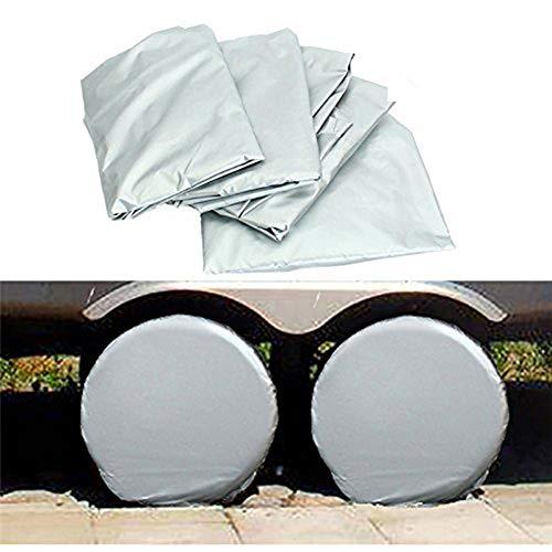 Queta 4 Ersatz-Radabdeckungen für Autoreifen, Sonnenschutz, Wasserdichte Aluminiumfolie, passend für 68,6 cm bis 73,7 cm