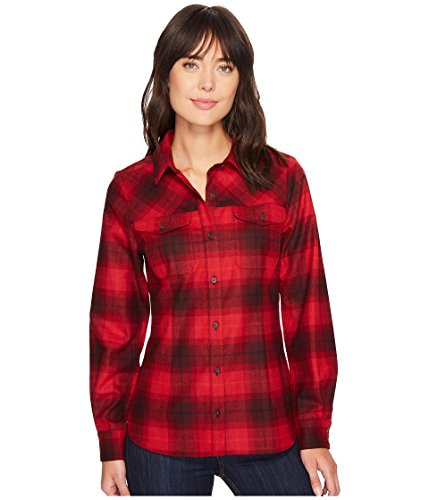 Pendleton Damen   Button-Down Hemd  -  rot -  (Wolle Pendleton Hemd)