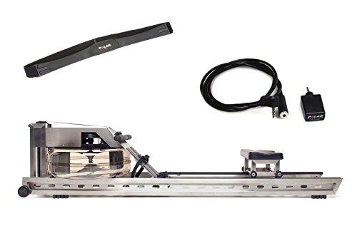 Waterrower Rudergerät S1 Edelstahl S4 mit Cardio-Set, 400s4