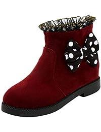 Fuxitoggo – Botas de Nieve Impermeables para Mujeres doublées de Forro, Botas Calientes de Invierno