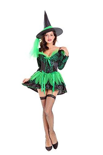 Halloween Kostüm erwachsenen weiblichen Assistenten Rolle spielen Cosplay Kostüm Hexe Spiel Stadium Kostüm, 10 000 und 21 (Frauen Top-ten-halloween-kostüme Für)