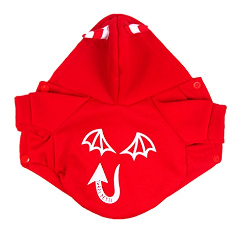 Generic Pet Dog Cat Luminous Devil Hoodies Clothes Shirts Kleidung Jacket Black/Red - red, XL