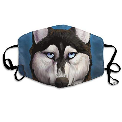 sk, Anti-Dust Anti Flu Pollenm Germs Bacteria Respirator with Adjustable Elastic Strap - Windproof Cool Alaska Husky Dog Half Face Mouth Mask ()