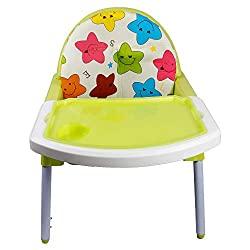 Aurawings.in Portable 3-in-1 Convertible Anti Skid Baby High Chair (Multicolour)