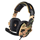 Vacally Wired Game 3.5 Headphones with Hd Noise Reduction Microphone Headset Ps4 Ergonomic