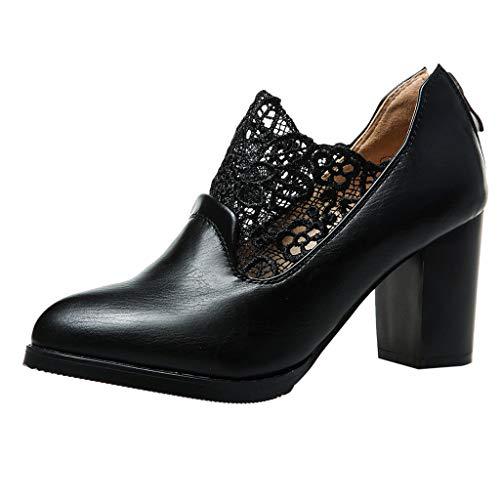 Maleya Stiefeletten Damen Mode Freizeitschuhe Klassische Kurze Stiefeletten Elegant Party Ankle Boots Vintage Lederstiefel Winter Kurze Stiefel Quadratischer Hoher Absatz Winterstiefel