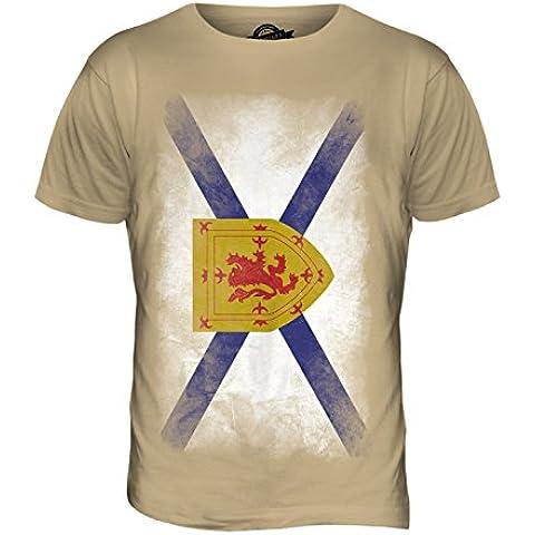 CandyMix Nuova Scozia Sbiadito Bandiera T-Shirt da Uomo Maglietta