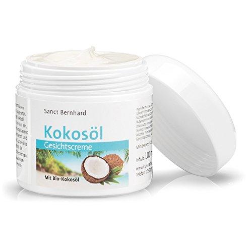 Sanct Bernhard Kokosöl-Gesichtscreme intensiv pflegende, feuchtigkeitsspendende Gesichtscreme mit echtem Bio-Kokosöl, Inhalt 100 ml