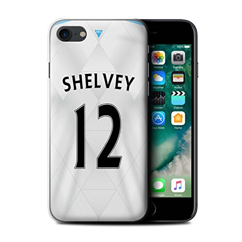 Offiziell Newcastle United FC Hülle / Case für Apple iPhone 7 / Doumbia Muster / NUFC Trikot Away 15/16 Kollektion Shelvey