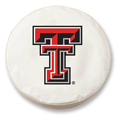 Holland Bar Stool NCAA Texas Tech Rot Raiders Tire Cover, Texas Tech Tire Cover, weiß